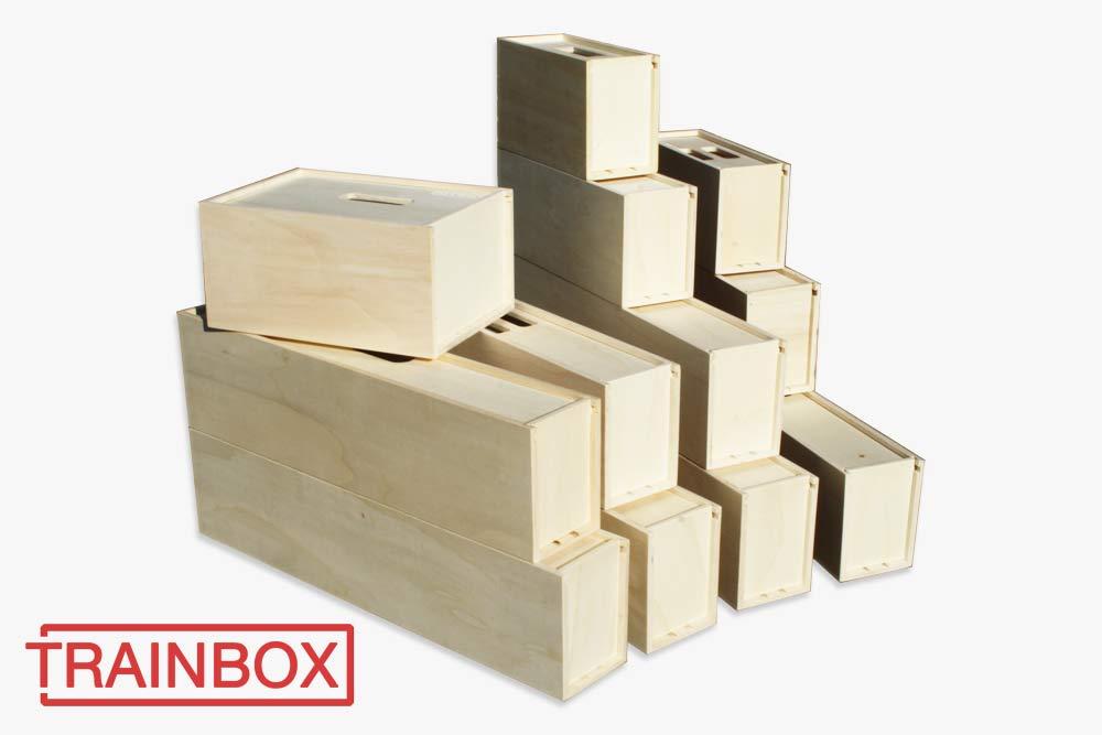 Lok-Transportkiste aus Holz