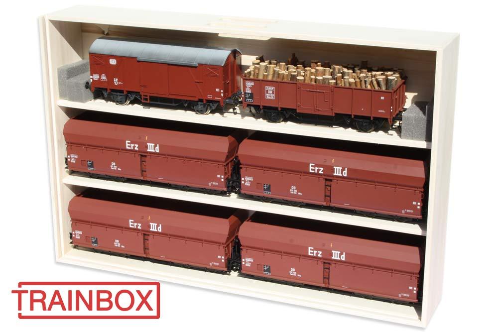 Wagenkiste Güterwagen Spur 1 60cm Trainbox
