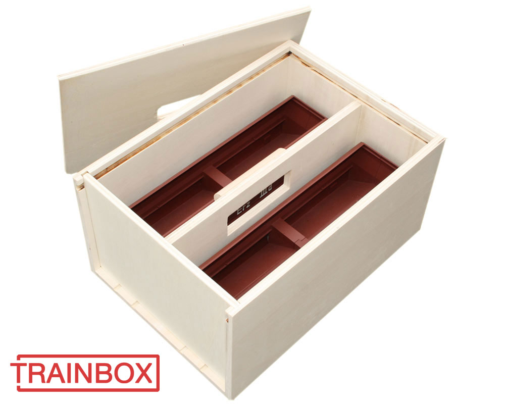 Transport box for freight wagons, gauge 1