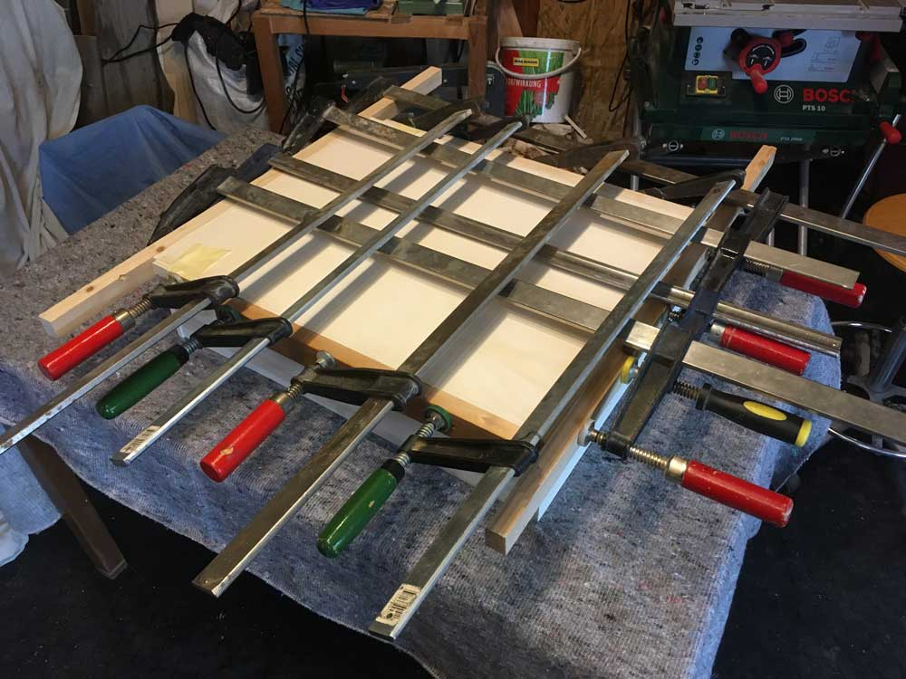 TRAINBOX wagon box being glued